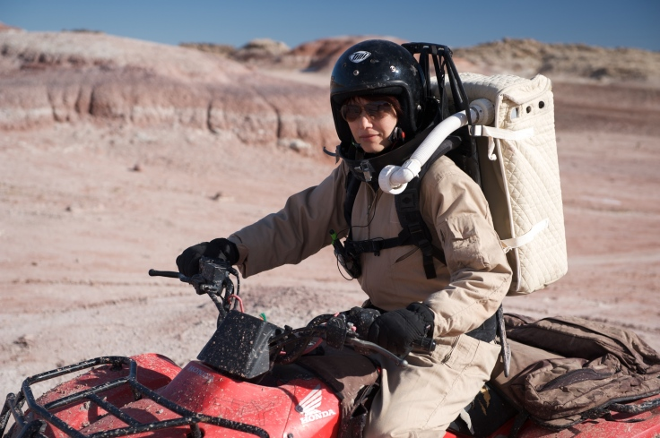 Haritina on an ATV Mars Desert Research Station in Utah, USA.